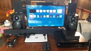 Home theatre setup and HP Chromebook 14 for Sale in MO, US