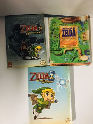 3 Legend of Zelda Game Guides Phantom Hourglass A Link to the Past Spirit Tracks for Sale in Westfield, NY