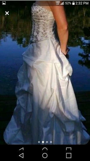 Prom or wedding dress white and silver for Sale in Washington, NC