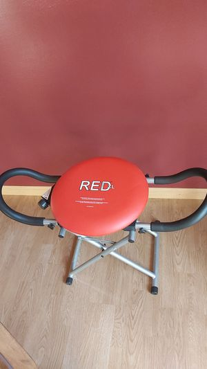 Red XL Fitness Abdominal Exercise Chair Core Resistance Rotation for Sale in Lancaster, PA