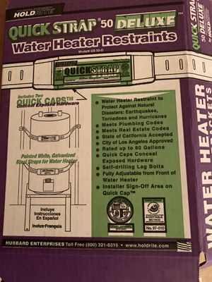 Water heater double strap new for Sale in Tacoma, WA