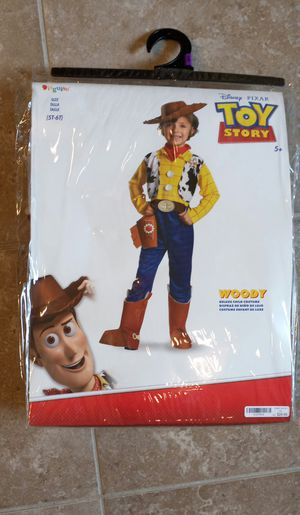 Disney Toy Story Woody Cowboy Deluxe Costume 5T-6T for Sale in Addis, LA