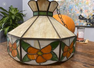 Vintage Hanging Stained Glass Lamp for Sale in Seattle, WA