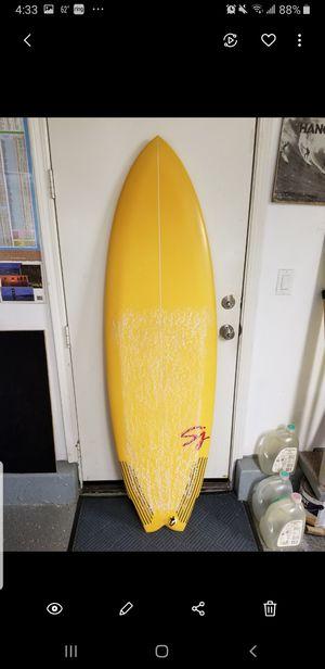 """SJ surfboard Twin + Trailer 5'10"""" estimate 34-35 liters for Sale in Carlsbad, CA"""