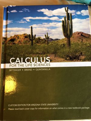 Calculus for life sciences book for Sale in Tempe, AZ