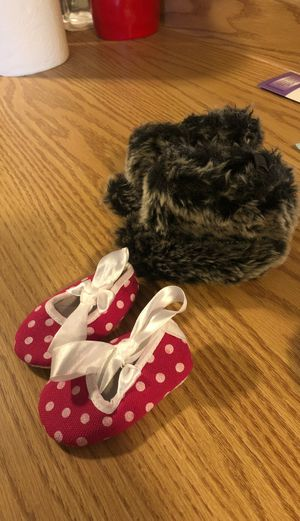 Size 10 baby girls soft boots and slippers for Sale in Auburn, WA