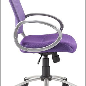 Boss Office Products Mesh Back Task Chair with Pewter Finish in Purple for Sale in Las Vegas, NV