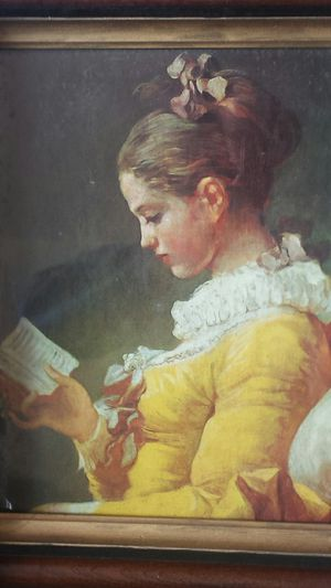 A Young Girl Reading, 1770 - 1772 by Jean-Honore Fragonard Framed Painting Print for Sale in Fairfax, VA