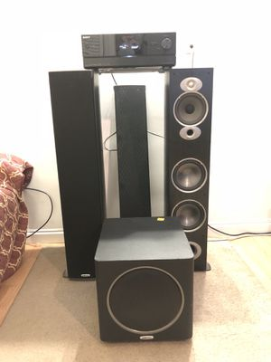 7.1 Av Reciver Sony with speakers and subwoofer for Sale in Queens, NY