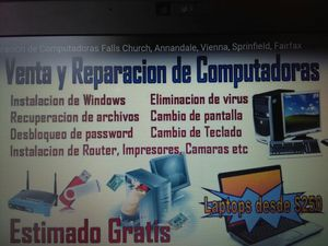 Reparación de Computadoras Laptop Desktop for Sale in Falls Church, VA