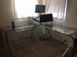 Glass corner deskb for Sale in Phoenix, AZ