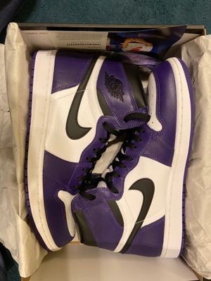 Jordan 1 Retro Court purple 2.0 SIZE 12 for Sale in Sacramento, CA
