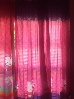4 panels Hello kitty girl curtains for Sale in Sebring, FL