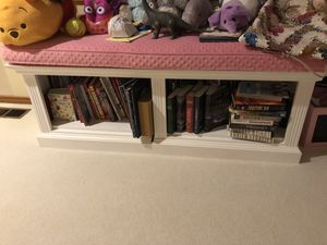 Bench bookcase with cushion for Sale in Redmond, WA