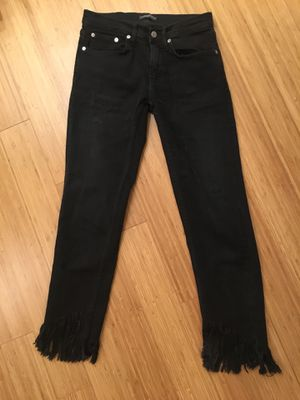 Zara fringe jeans -26 for Sale in New York, NY
