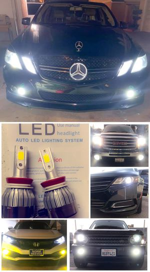 US brand led headlights or fog lights for any car $25 & FREE license plate led for Sale in West Covina, CA