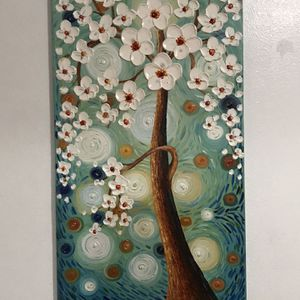 Oil Painting Flower blossom3D Hand-Painted On Canvas for Sale in Whittier, CA
