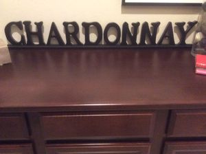 Chardonnay Sign in Dimentional Black Letters for Sale in Goodyear, AZ
