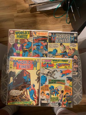DC comic book lot of 5 vintage Worlds Finest comics for Sale in Ontario, CA