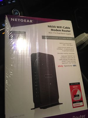 Netgear cable modem and wifi router for Sale in Huntington Beach, CA
