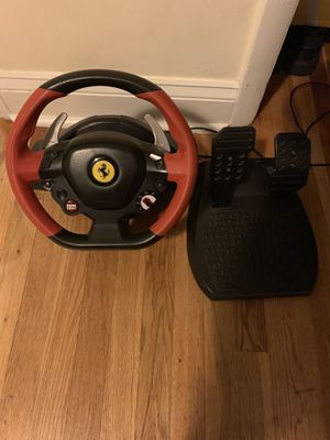 Gaming wheel with stand NEED GONE ASAP for Sale in Alexandria, VA
