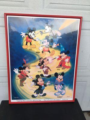 Framed Vintage Disney Poster for Sale in West Linn, OR