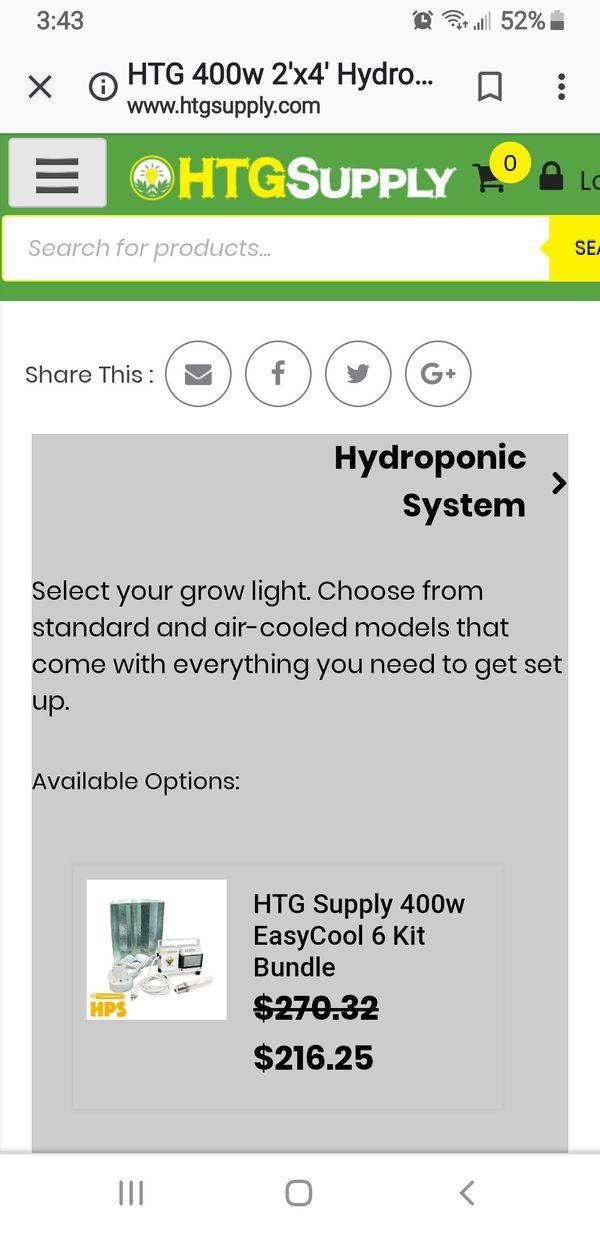 400 watt HTG easy grow indoor