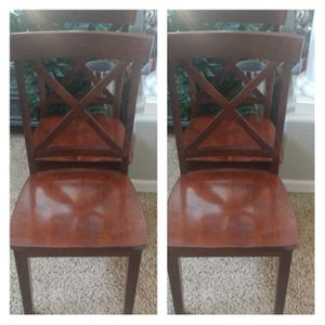 Set of 4 X-Back Wooden Chairs for Sale in Arvada, CO