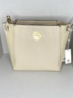 Tory Burch Everly Leather And Straw Hobo for Sale in Queens,  NY