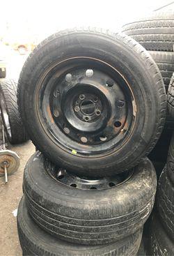 "17"" wheels rims tires stock wheels 5X4.5 Charger Chrysler explorer Infinty 17 rims for Sale in Oak Park,  IL"