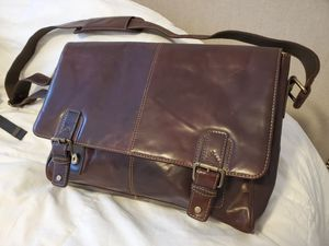 Leather Messenger Bag - Hand Stitched for Sale in Queens, NY