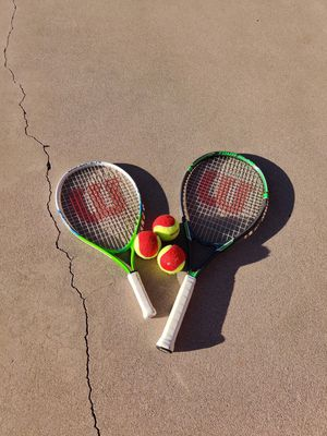 Tennis rackets and balls for Sale in Tucson, AZ