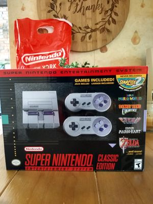 Super Nintendo Classic Mini, NEW (never opened) for Sale in North Branford, CT
