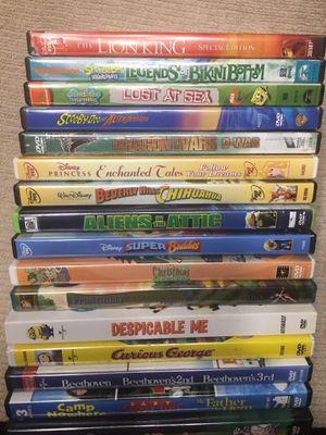 22 kids dvds $10 for all for Sale in Haltom City, TX