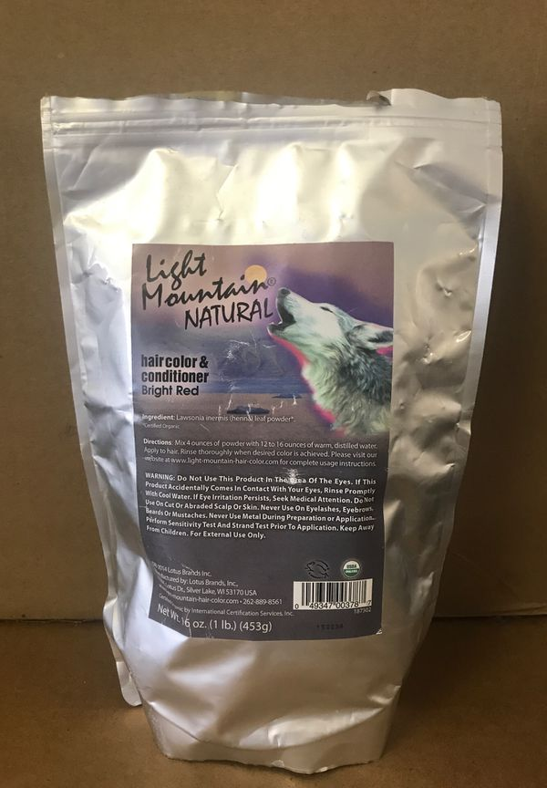 LIGHT MOUNTAIN Natural Hair Color & Conditioner (Bright Red)