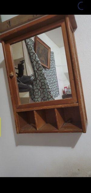 Wood medicine cabinet with mirror for Sale in Fresno, CA