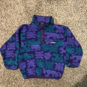 Vintage kids Patagonia Fleece made in USA size 4 for Sale in Saint Ann, MO