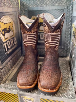 Steel toe works boots for Sale in Houston, TX