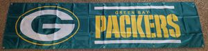 2'x8' Green Bay Packers Tailgating Banner flag for Sale for sale  Moreno Valley, CA