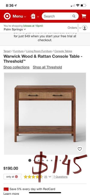 Console table for Sale in Desert Hot Springs, CA