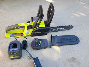 RYOBI ONE+ Lithium+ 10 in. 18-Volt Lithium-Ion Cordless Chainsaw -Battery and Charger Included for Sale in Murrieta, CA