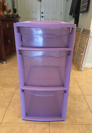 Homz-plastic 3 drawer container for Sale in Riverview, FL
