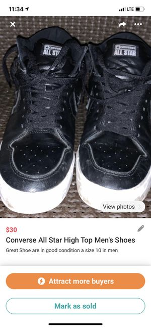 Converse All Star High Top Men's Shoes for Sale in Palmdale, CA