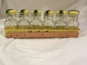 Vintage spice jars with container for Sale in Naples, FL