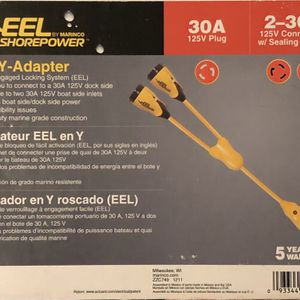 Marinco EEL Y Adapter, 30A 125V Dockside Adapter for Sale in West Covina, CA