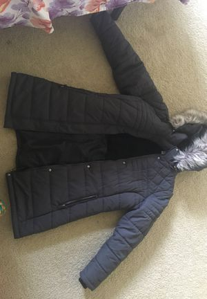 Winter jacket with layers inside and a hoodie with fur for Sale in Union City, CA