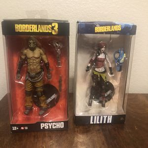 McFarlane Toys 7-Inch All-Stars Figure Borderlands Lilith Action Figure Box Dmg Borderlands 3 PSYCHO Action Figure McFarlane Toys Brand New Free Sh for Sale in Chula Vista, CA