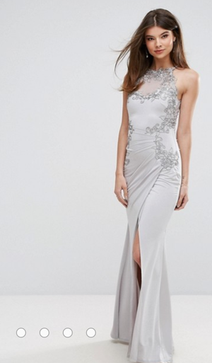 Lipsy Silver/Gray Dress-Brand New for Sale in Houston, TX