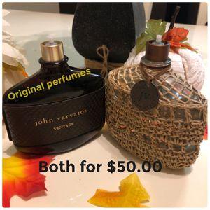 """""""AUTHENTIC """"MAN PERFUME John Varvaros VINTAGE Both $50.00 MAKE OFFER for Sale in Redlands, CA"""