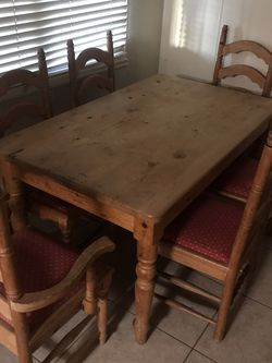 Dinner table with 100% 6 Chair for Sale in San Diego,  CA
